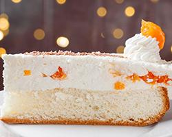 Творожный пирожное с мандаринами