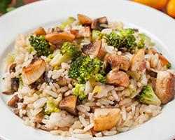Рис с грибами и брокколи