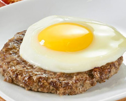 Бифштекс с яйцом 1 шт.