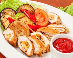 Мясо «По-генеральски» с овощами гриль