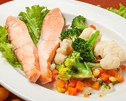 Сёмга на пару с овощами на пару